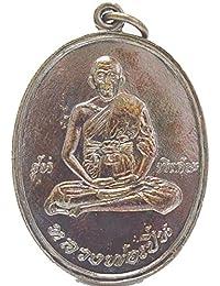 Thai BuddhaジュエリーAmulets Lp Pernタイ式Amulet Life保護Buddhaペンダント
