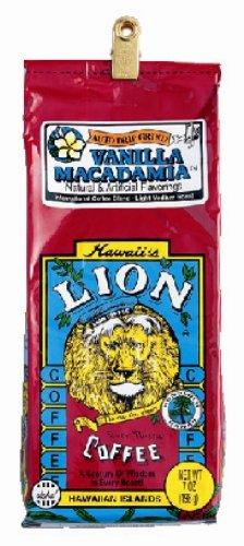 ハワイ大人気 ライオンコーヒー バニラマカダミア フレーバー・粉(198g・袋)
