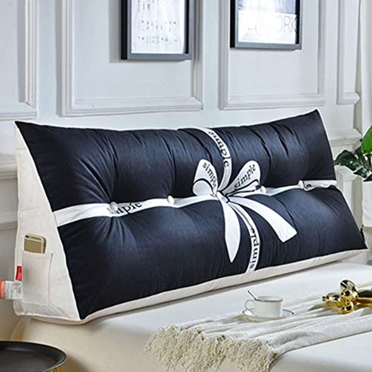 ダッシュ船酔いぼかすベッドサイドクッション大背もたれ脱着式畳ソファ枕枕腰枕、3色/ 5サイズ,c,100CM