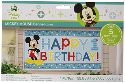 Mickey Mouse 1st Birthday 'Fun to Be One' Jumbo Plastic Banner