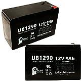 2xパック - APC SMART-UPS 2200 SUA2200XL 互換バッテリー : APC UB1290 シールド鉛蓄電池 バッテリー対応 (9Ah, 12V, SLA, AGM)
