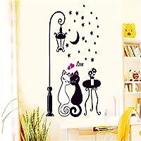 Dtcrzj 壁のステッカー壁のステッカークリエイティブ猫愛好家の壁アートデカールステッカー取り外し可能な壁画家の装飾