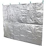 日本製 ステンレススパッタリング 遮熱&雨除けベランダシート 200×160cm
