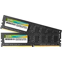 シリコンパワー デスクトップPC用メモリ DDR4-2666(PC4-21300) 8GB×2枚 288Pin 1.2V CL19 永久保証 SP016GBLFU266B22