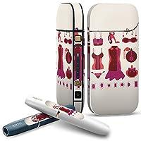 iQOS 2.4 plus 専用スキンシール COMPLETE アイコス 全面セット サイド ボタン スマコレ チャージャー カバー ケース デコ おしゃれ ファッション ピンク 010533