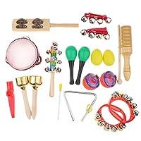 B Baosity 子ども 楽器おもちゃ タンバリンセット 発達おもちゃ ラトル サウンドおもちゃ