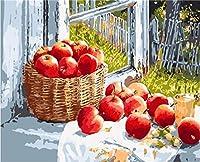 Wwdfddいいえフレームdiy絵画写真による番号手描きキャンバス現代の壁画用リビングルーム家の装飾壁アート40センチ×50センチ