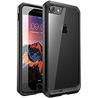 SUPCASE iPhone8 ケース/iPhone7 ケース 米軍MIL規格取得 衝撃吸収 Unicorn Beetle シリーズ 透明/黒い