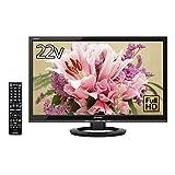 シャープ 22V型 液晶 テレビ AQUOS LC-22K30-B フルハイビジョン 外付HDD対応(裏番組録画) ブラック 2015年モデル