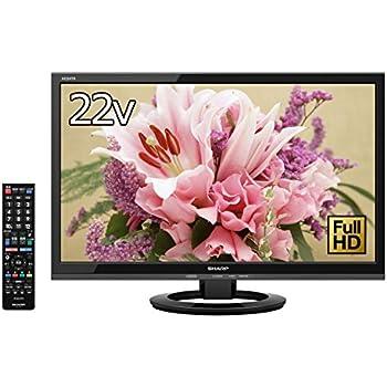 シャープ 22V型 フルハイビジョン 液晶 テレビ AQUOS LC-22K30-B 外付HDD対応(裏番組録画) ブラック