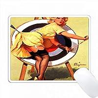 Miss Archeryの近くのElvgren Pinupの印刷 PC Mouse Pad パソコン マウスパッド