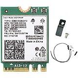 3000Mbps WiFi 6E Intel AX210 Bluetooth 5.2 M.2 2230 Key E WiFi 6 Card 2.4G/5Ghz/6Ghz with IPEX4 Antennas Wireless AX210NGW 80