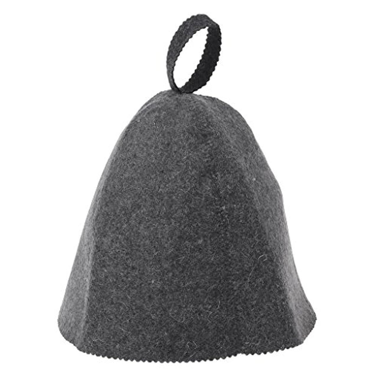 隠付き添い人海峡ひもLANDUMのウールのフェルトのサウナの帽子、浴室の家の頭部の保護のための反熱ロシアのバニヤ帽子