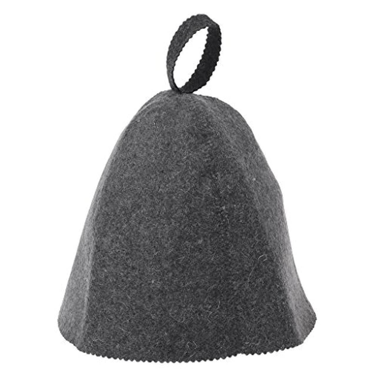 歌詞議論する干渉するLANDUMのウールのフェルトのサウナの帽子、浴室の家の頭部の保護のための反熱ロシアのバニヤ帽子