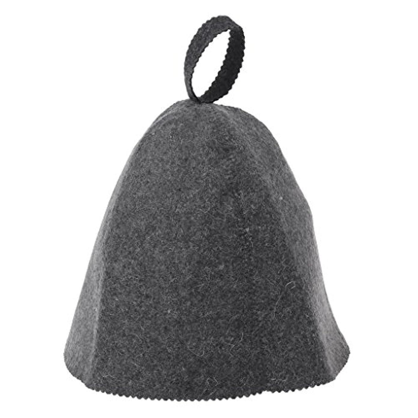 王女まつげ三番LANDUMのウールのフェルトのサウナの帽子、浴室の家の頭部の保護のための反熱ロシアのバニヤ帽子