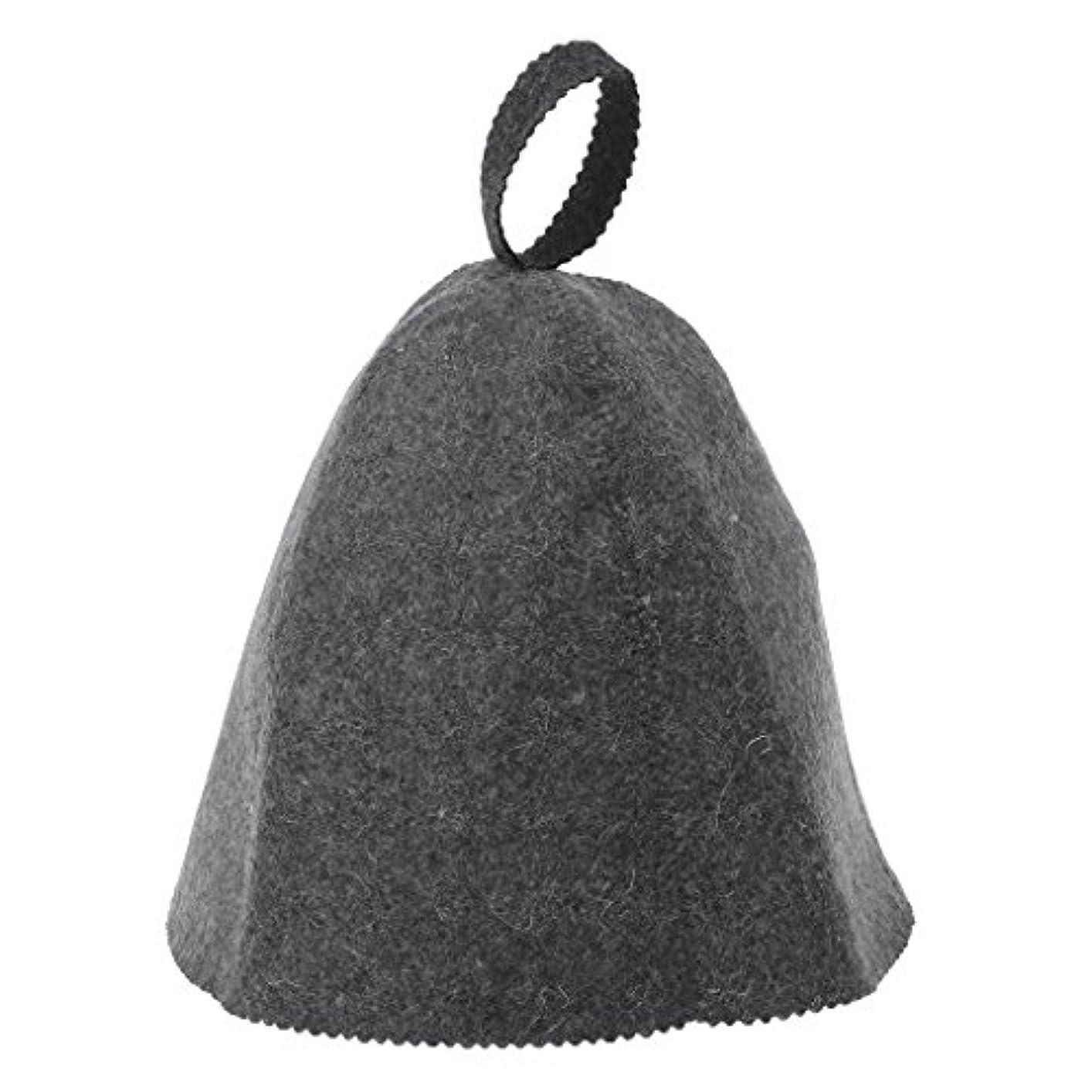 犯罪不健全結婚するLANDUMのウールのフェルトのサウナの帽子、浴室の家の頭部の保護のための反熱ロシアのバニヤ帽子