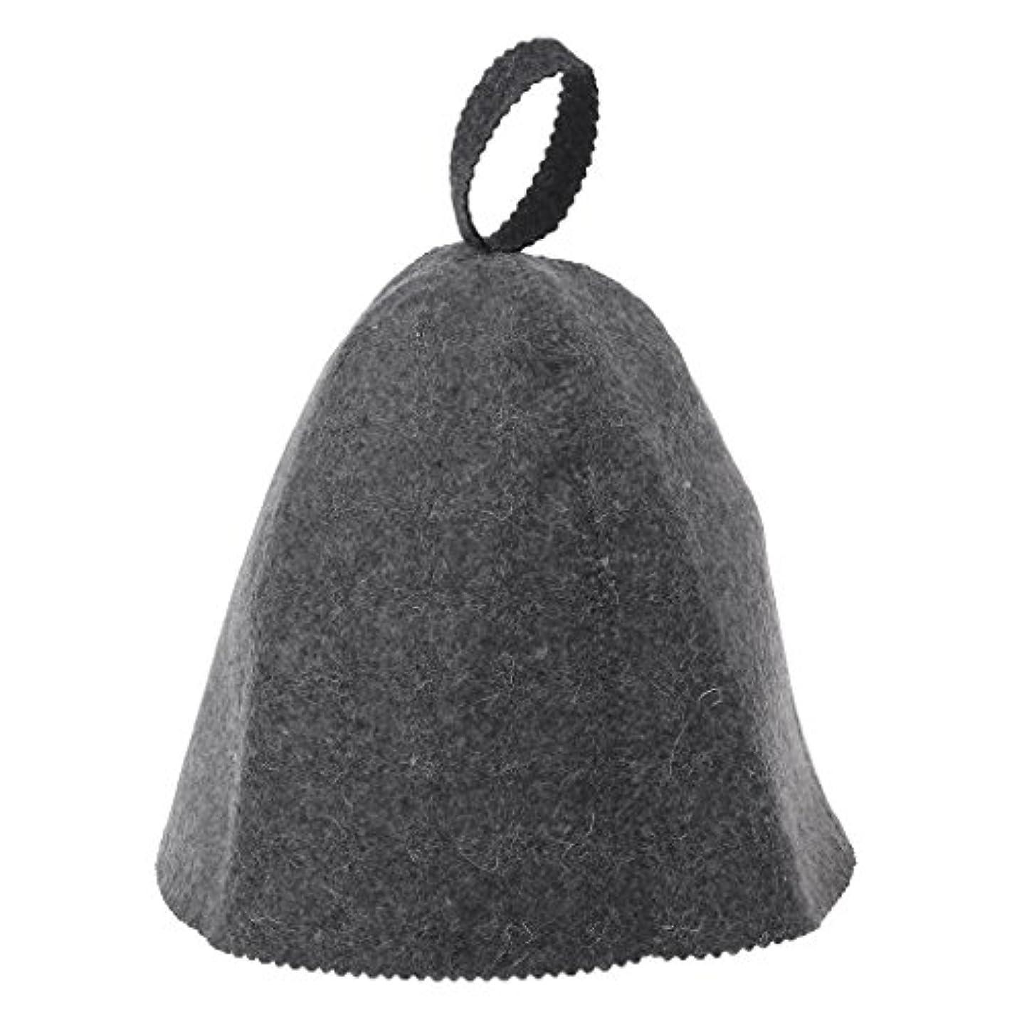 逸脱報いるコンパスLANDUMのウールのフェルトのサウナの帽子、浴室の家の頭部の保護のための反熱ロシアのバニヤ帽子