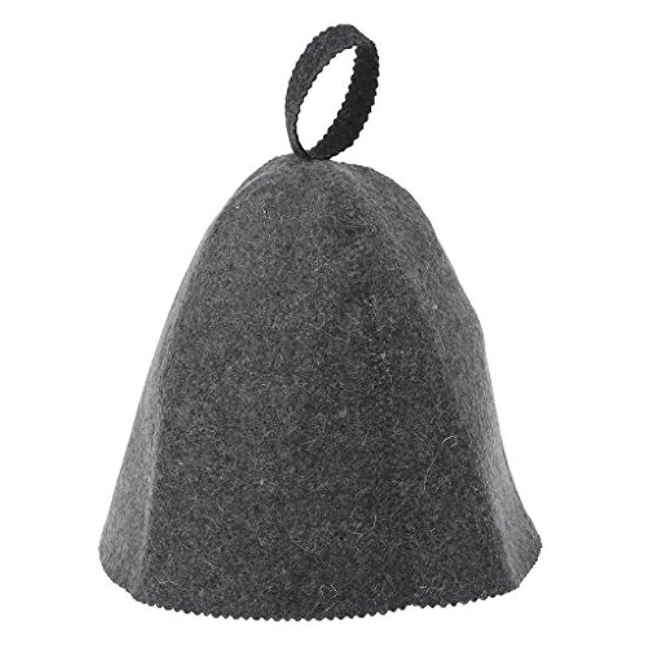 懲戒渇き申し立てLANDUMのウールのフェルトのサウナの帽子、浴室の家の頭部の保護のための反熱ロシアのバニヤ帽子