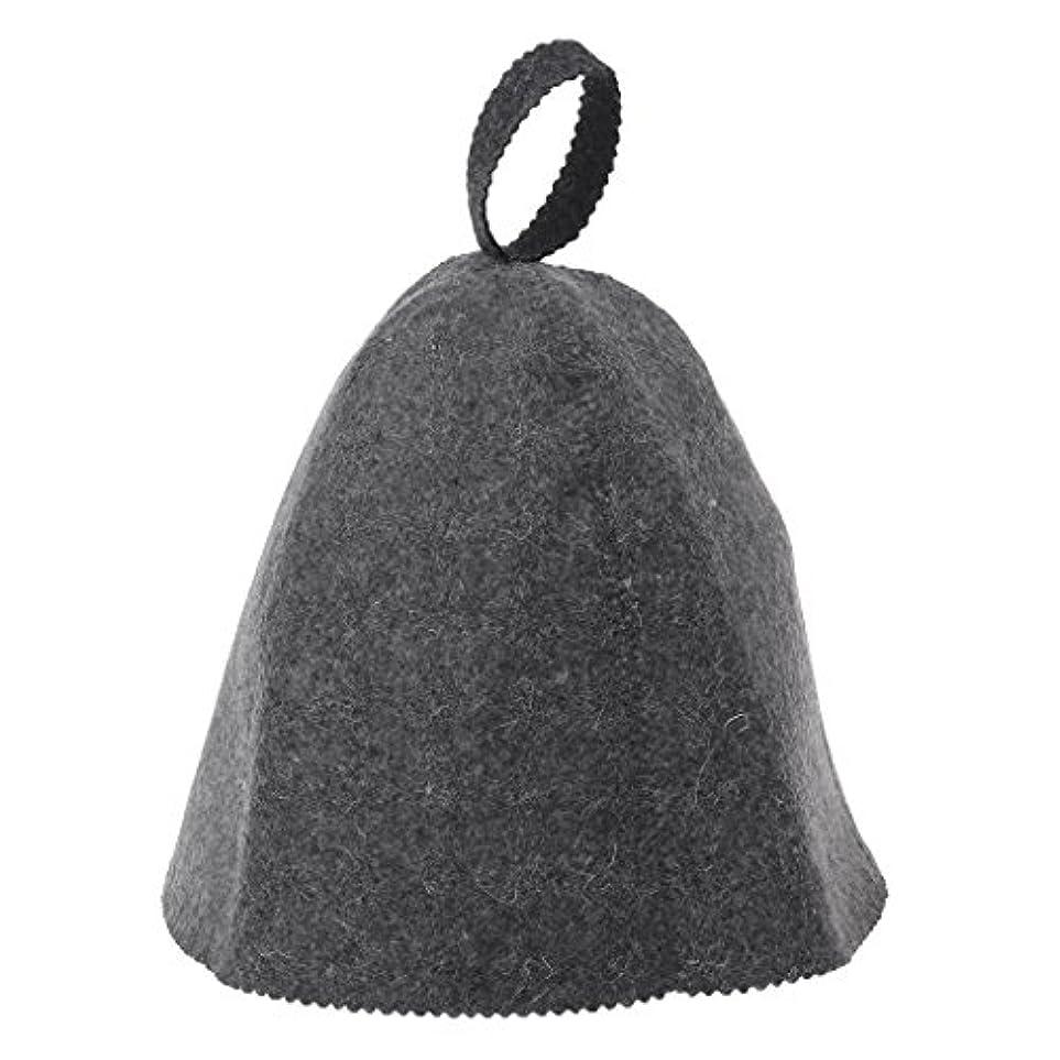 オーディションキリスト教視線LANDUMのウールのフェルトのサウナの帽子、浴室の家の頭部の保護のための反熱ロシアのバニヤ帽子
