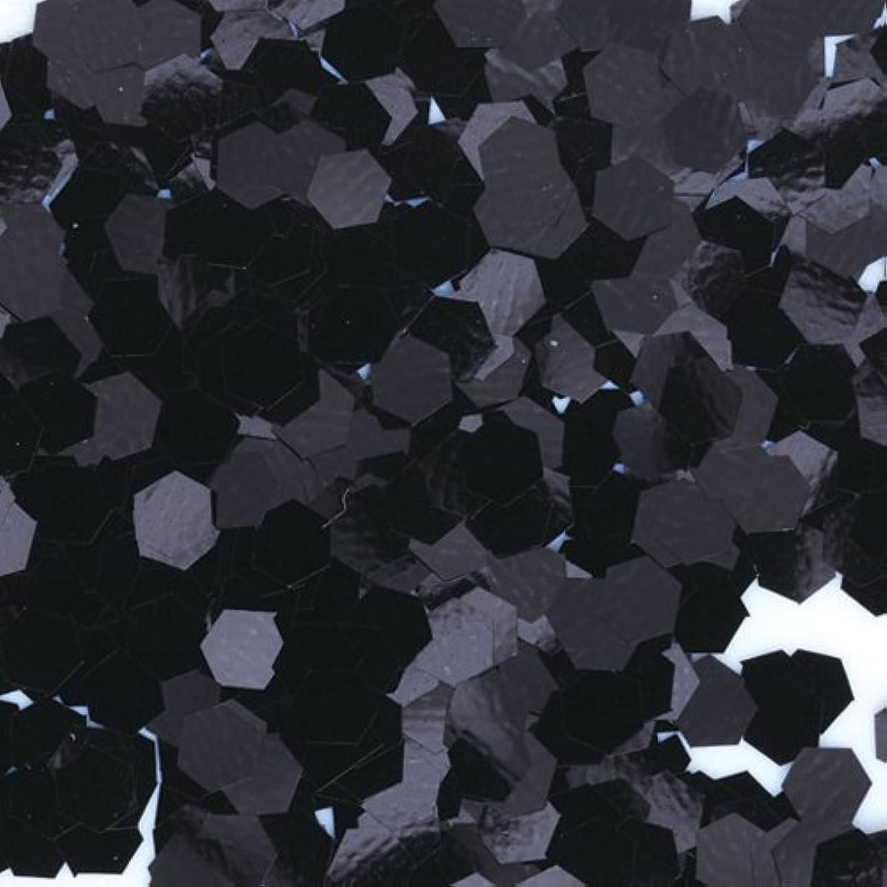 翻訳する賞賛ウミウシピカエース ネイル用パウダー 六角カラー 1mm #452 ブラック 0.5g