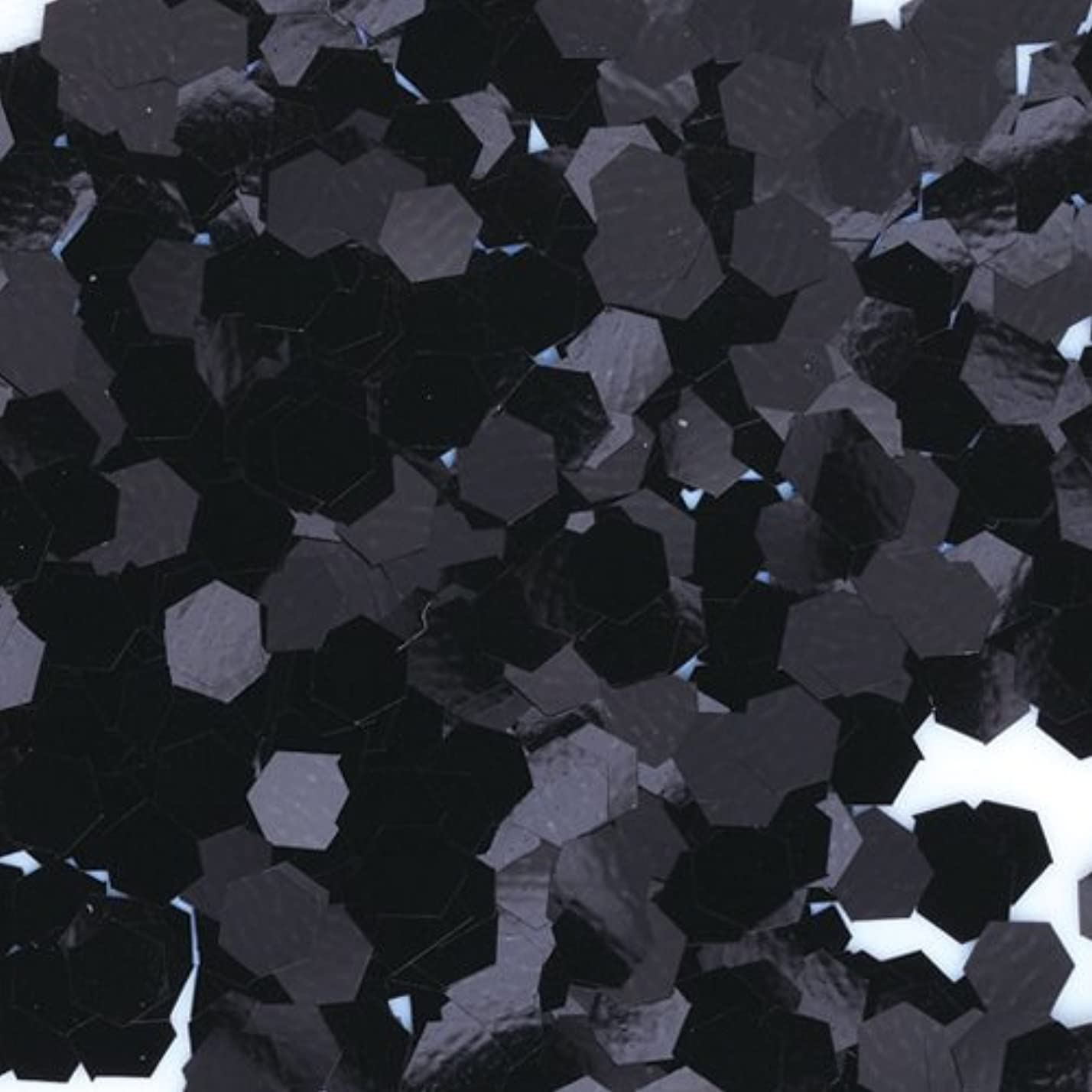 実り多いバンド電気陽性ピカエース ネイル用パウダー 六角カラー 1mm #452 ブラック 0.5g