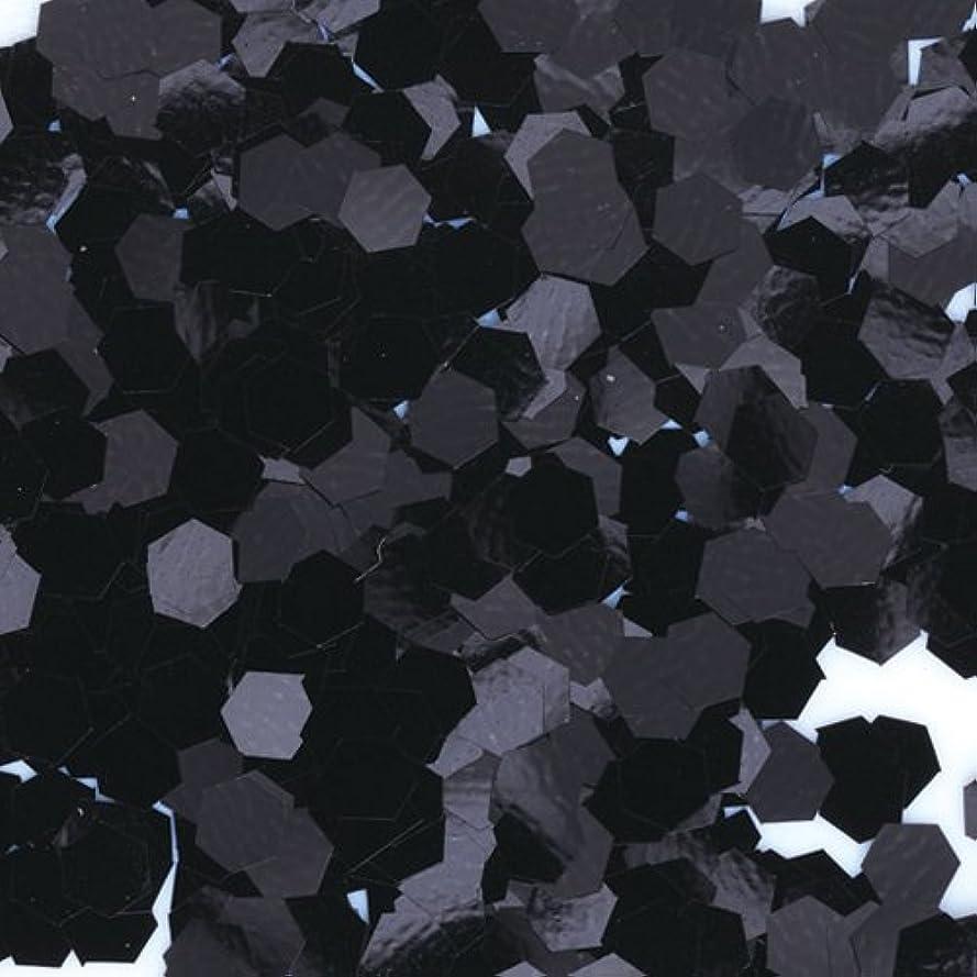 カラス仕立て屋ハミングバードピカエース ネイル用パウダー 六角カラー 1mm #452 ブラック 0.5g