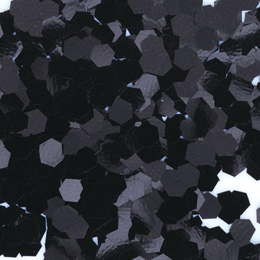 発音彫刻くちばしピカエース ネイル用パウダー 六角カラー 1mm #452 ブラック 0.5g