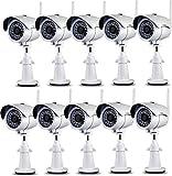 Sumpple 防犯カメラ ネットワークカメラ ワイヤレス無線WiFi/有線 720P IP66防水防塵 モーション探知 スナップ 夜間暗視 メールアラームIOS、Android 、PC 対応 ブラック