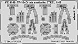 エデュアルド 1/48 ズームシリーズ TF-104G 後期型 シートベルト ステンレス製 (キネティック用) プラモデル用パーツ EDUFE1140