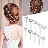 Amazon.co.jpROSENICE 女性は、10 個入りブライダル シルバー U 字ピン ヘアピンをピン髪の結婚式