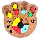 Saikogoods 多機能の自然食品は 子犬犬猫ペット用品のための木製教育ポウパズルインタラクティブ玩具扱い マルチカラーミックス