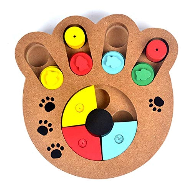 反射該当する松明Saikogoods 多機能の自然食品は 子犬犬猫ペット用品のための木製教育ポウパズルインタラクティブ玩具扱い マルチカラーミックス