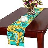 GGSXD テーブルランナー 親しい 豚 クロス 食卓カバー 麻綿製 欧米 おしゃれ 16 Inch X 72 Inch (40cm X 182cm) キッチン ダイニング ホーム デコレーション モダン リビング 洗える