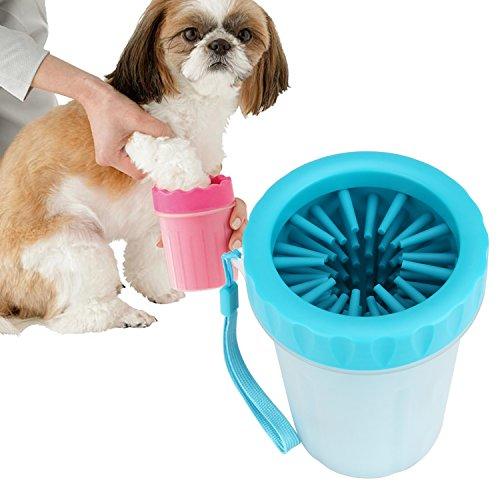 犬 足洗い ブラシカップ ペット足用クリーナー 愛犬のお散歩帰りのかんたん足洗い (M-L) 中型/大型犬用