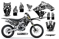 Kawasaki kxf2502009–2012MXダートバイクグラフィックキットステッカーデカールkx250F with Number Plates Reaperシルバー