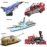 5つのかわいいかわいい3Dトラフィックツールのセットジグソーパズルの子供のジグソーパズルのおもちゃ