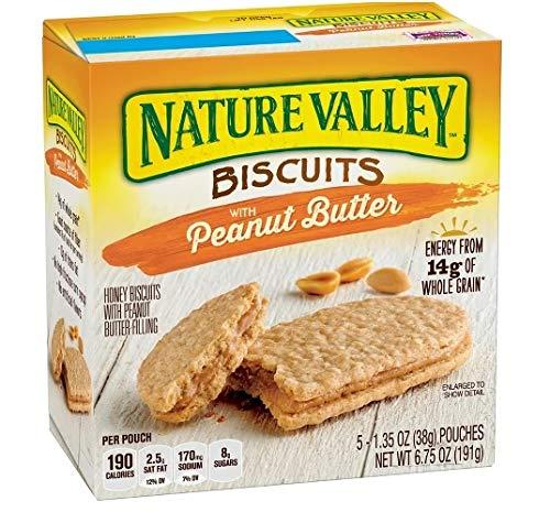Natural Valley Peanut Butter Biscuits ナチュラルバレーピーナッツバタービスケット190g [並行輸入品]