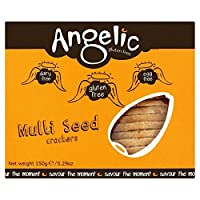 無料のマルチシードクラッカーの150グラムをグルテン (Angelic) (x 6) - Angelic Gluten Free Multi Seed Crackers 150g (Pack of 6)