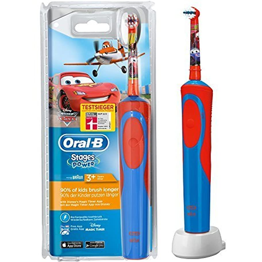 居眠りするお金繊維Oral-B Stages Power Cars Children's Electric Toothbrush with Timer by Oral-B [並行輸入品]