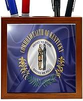 Rikki Knight RK-PH2690 Kentucky State Flag Design 5-Inch Wooden Tile Pen Holder (RK-PH2690) [並行輸入品]