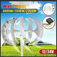 ホーム街灯については3000W / 2500W / 2000W風力タービン発電機+コントローラー12V24V 5ブレードランタンモーターキット縦軸,3000w