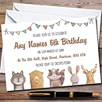 フォレストウッドランド動物Childrens誕生日パーティー招待状 90 Invitations