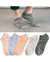 靴下 メンズ スニーカーソックス ショート ソックス くるぶしソックス くるぶし靴下 5足組 セット YDWZ-3004-02