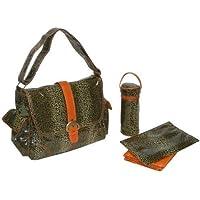Kalencom Laminated Buckle Bag, Cheetah/Orange by Kalencom [並行輸入品]