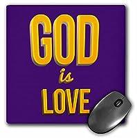 3drose God Is Love 3dテキストアートVerseから1ジョン・onパープル背景–マウスパッド