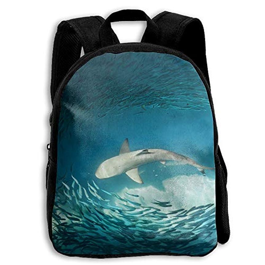 靴作者ご意見サメ ちいさい魚 海洋 子供用 リュック リュックサック キッズリュック 通学 男女兼用 キッズバッグ 入園 入学 保育園 アウトドア 軽量 バックパック 双肩バッグ 鞄