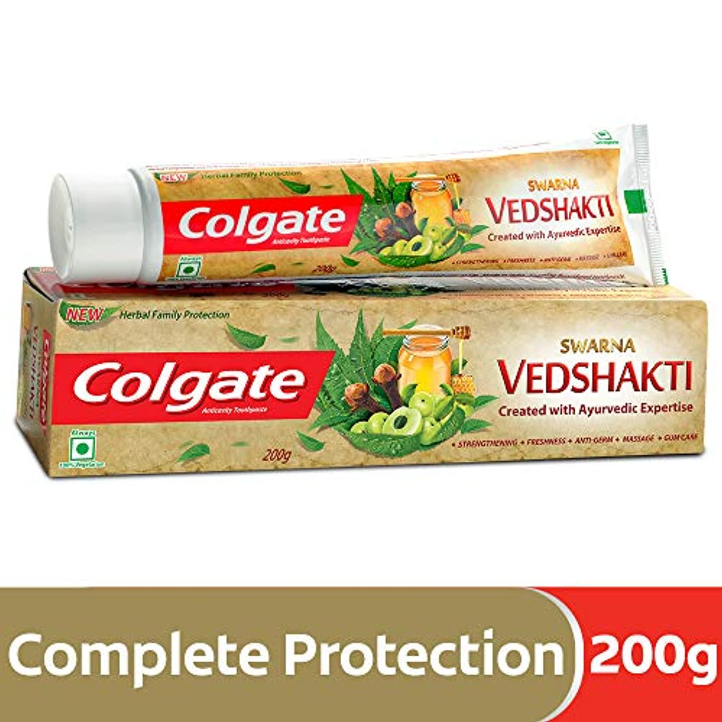 国歌郵便スローColgate Swarna Vedshakti Toothpaste - 200g