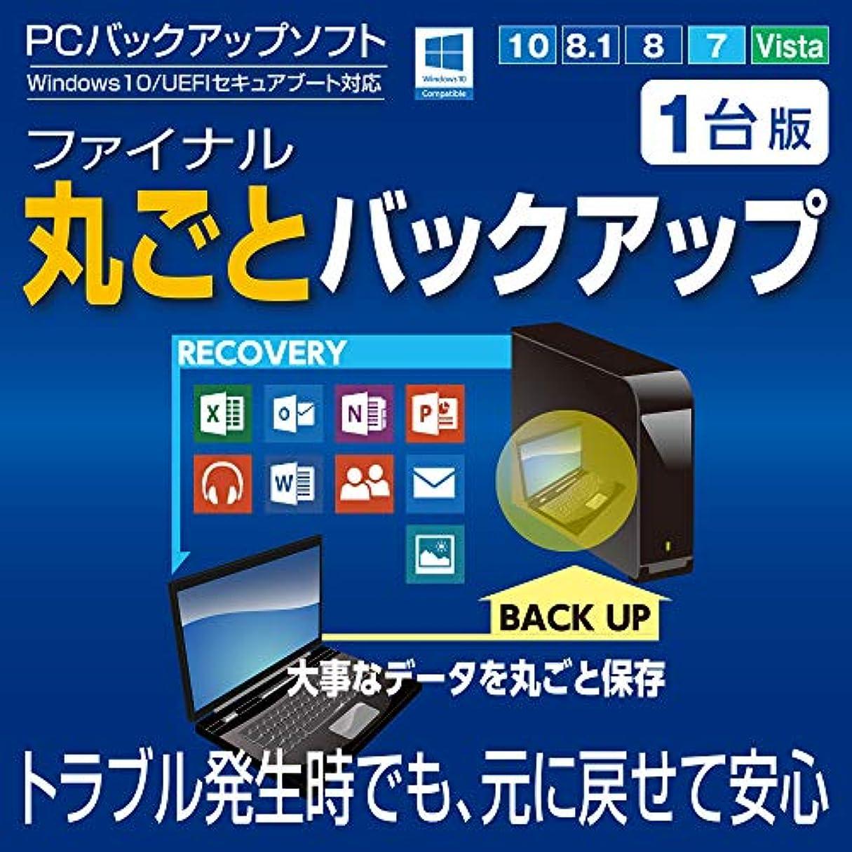 ファイナル丸ごとバックアップ1台版 【OSやアプリケーションを簡単操作でバックアップ。ファイル?フォルダ単位やWindowsが起動しない場合の復元に対応】|ダウンロード版