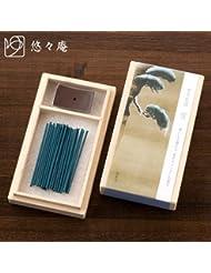 スティックお香桐箱入「雪月花」雪凛とした静けさお香と香立てセット悠々庵Incense and incense stand set