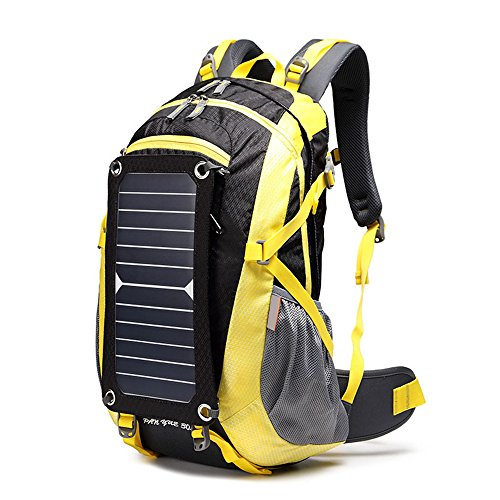 Eastlion 6.5W 太陽光発電バックパック 太陽電池充電器付きバッグ...